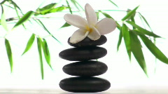 Zen rocks against bamboo background V4 - HD Stock Footage