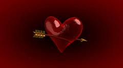 Ice Heart with Amor Arrow - Heart 21 (HD) Stock Footage