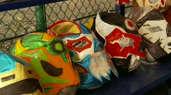 Wrestling masks Stock Footage