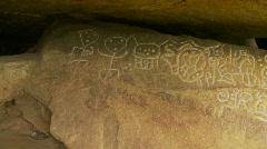 Olmec culture, petroglyphs x3, Mexico Stock Footage