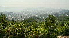 Acapulco from mountainside - stock footage