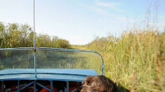 Stock Video Footage of Airboat ride