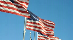 US Flags Stock Footage