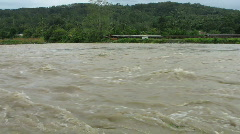 Fast flowing  rain forest river Stock Footage