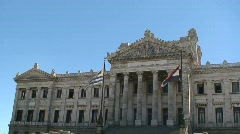 Government building, Montevideo, Uruguay  Stock Footage