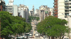 Downtown Montevideo, Uruguay Stock Footage
