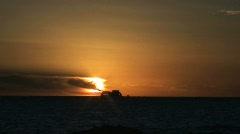 Sunset Colonia del Sacramento, Uruguay Stock Footage