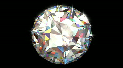 Big Diamond Top View Stock Footage