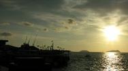 Kota Kinabalu wharf - Borneo Stock Footage