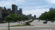 Stock Video Footage of 9 de Julio Avenue, Buenos Aires, Argentina