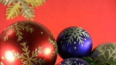 Christmas and New Years Eve decoration etude 02. Stock Footage