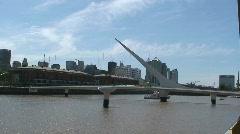 Woman's Bridge Buenos Aires, Argentina Stock Footage
