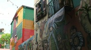 Stock Video Footage of La boca neighborhood, Buenos Aires, Argentina