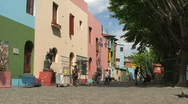 Stock Video Footage of La boca neighborhood, Buenos Aires, Argentina