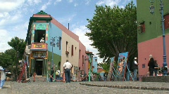 La boca neighborhood, Buenos Aires, Argentina Stock Footage