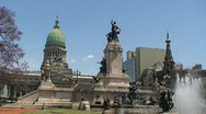Stock Video Footage of Government building, Buenos Aires, Argentina