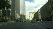 Driving around down town miami city Stock Footage