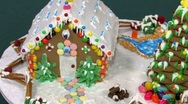 Gingerbread house pan right Stock Footage