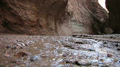 Desert gorge stream Stock Footage
