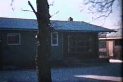 New House In The Suburbs (1963 - Vintage 8mm film) - stock footage