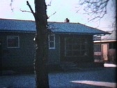 Stock Video Footage of New House In The Suburbs (1963 - Vintage 8mm film)