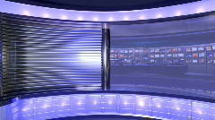 HD Virtual News Studio 28 / Shot 3 Stock Footage