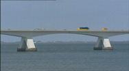 Bridge traffic zeelandbrug medium shot  502001 013818 Stock Footage