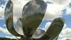 Floralis Generica, Buenos Aires Timelapse Stock Footage