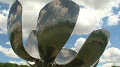 Floralis Generica, Buenos Aires, Argentina Stock Footage