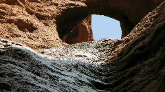 Desert  water gulley Stock Footage