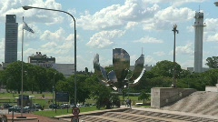 Floralis Generica, Buenos Aires Stock Footage