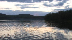 Sunset over Lake Arrowhead Stock Footage