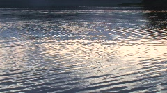 Sunset Reflections on Lake Arrowhead Stock Footage