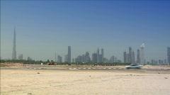 Auton rajan Dubain horisonttiin Arkistovideo