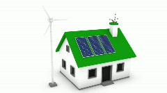 Economical Green Housing - stock footage