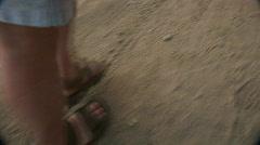 Mex pov man walking 028 Stock Footage