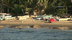 Mex Sayulita beach activity 023 Stock Footage