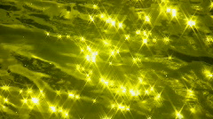 Slo-mo water sparkles. Chartreuse. Stock Footage