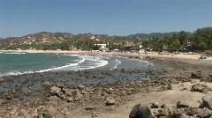Mex Sayuilta beach and rocks 057 Stock Footage