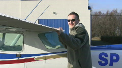 Airplane pre-flight check Stock Footage