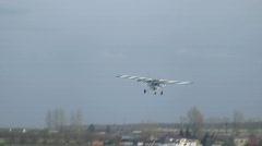 Crosswind landing Stock Footage