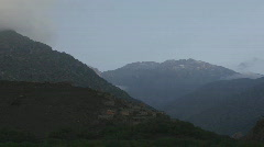 Clouds over the Atlas Mountains Stock Footage