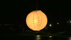 Mex lantern at night 026 Stock Footage