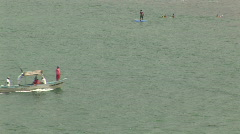 Mex fishing boat returning 015 Stock Footage