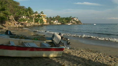 Mex boats and shoreline 009 Stock Footage