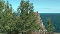 Baikal lake. Cape Hoboi Stock Footage