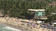Mex beach to pullout view 087 Stock Footage