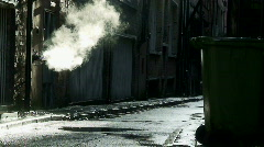 dirty deserted back alleyway - stock footage