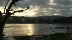 Mex bay at dusk 063 Stock Footage