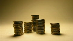 coins loss growth - stock footage
